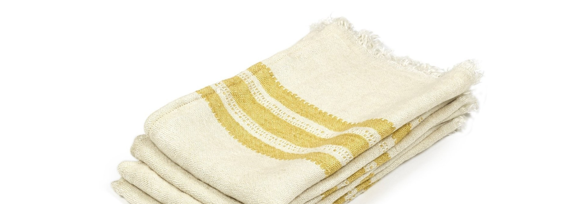 Mustard Stripe - Hand Towel