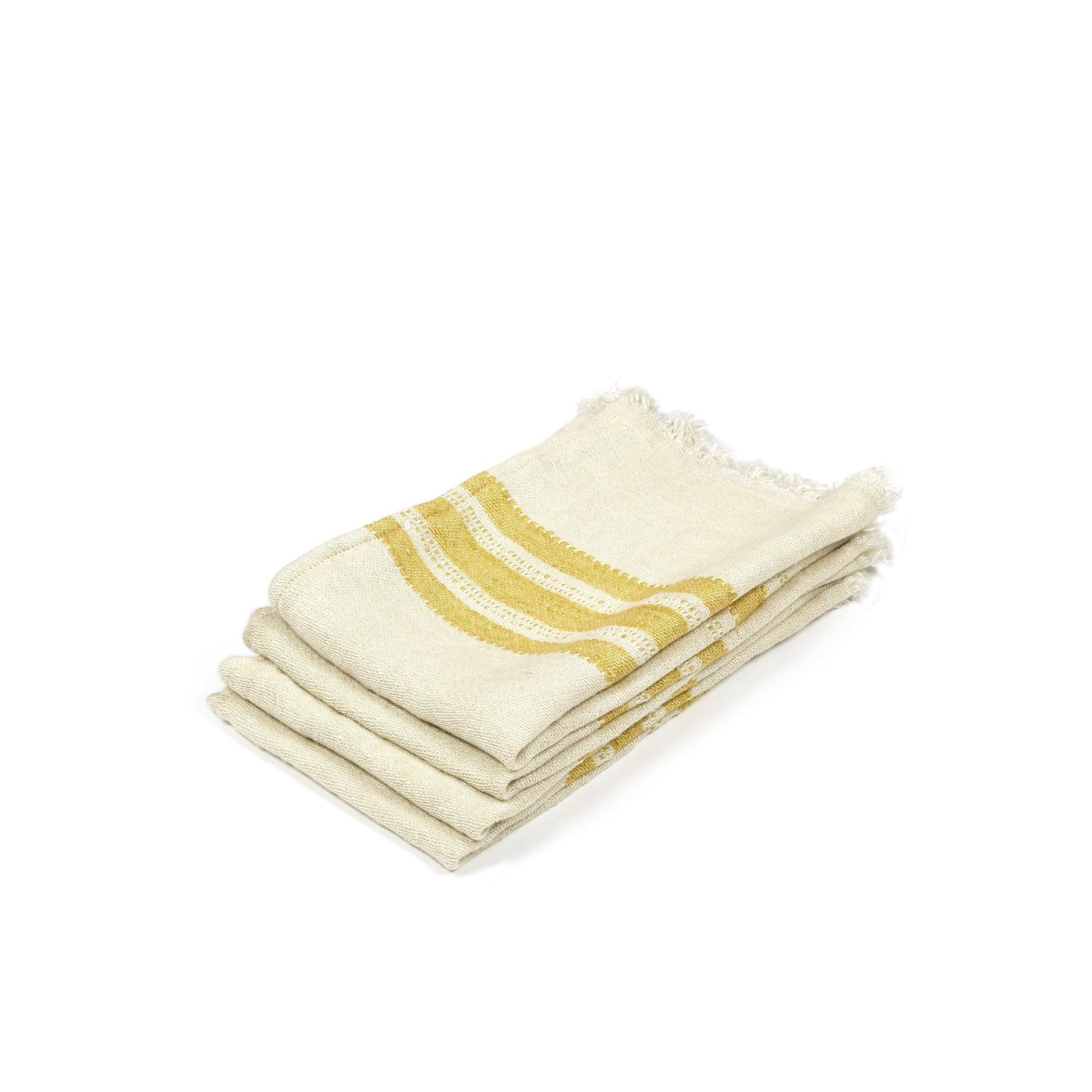 Mustard Stripe - Hand Towel-1