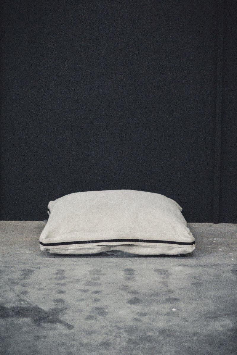 James Floor Cushion - Flax-4