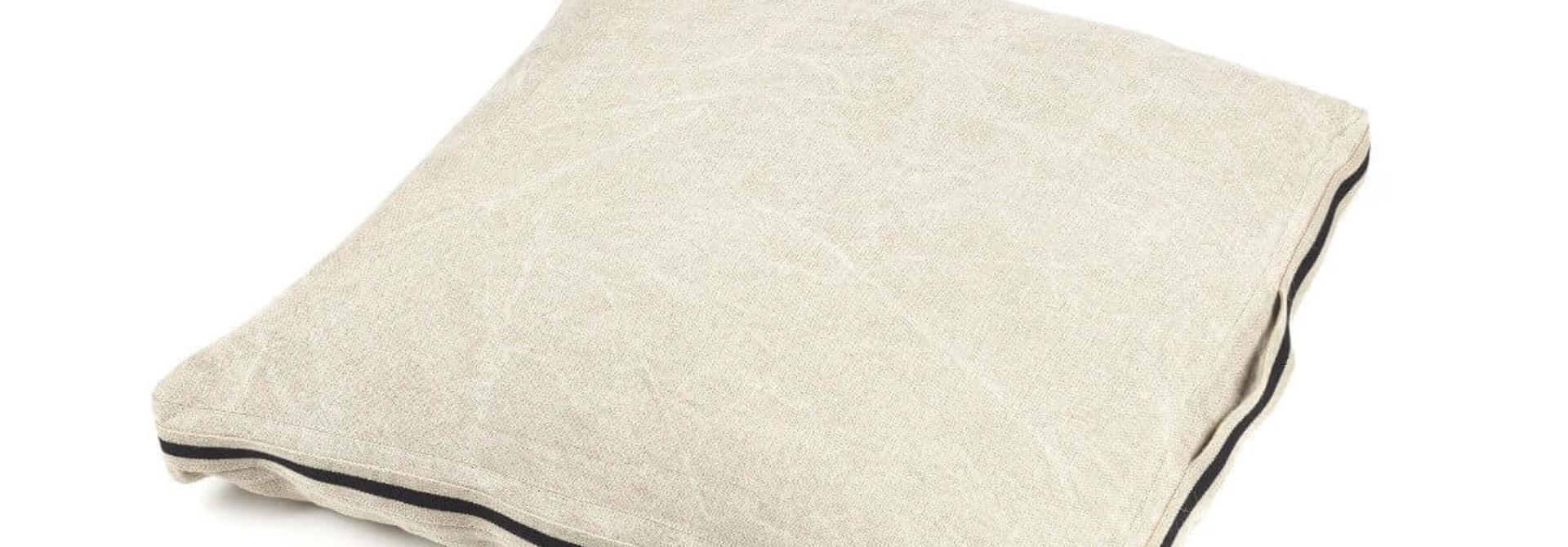 James Floor Cushion - Flax