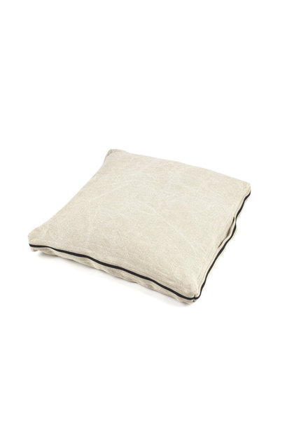 James Floor Cushion - Flax
