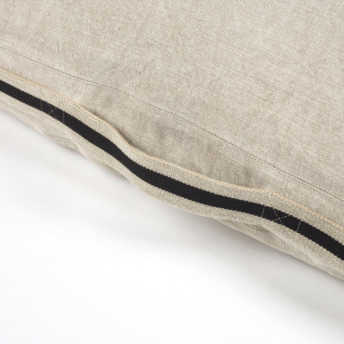 James Floor Cushion - Flax-2