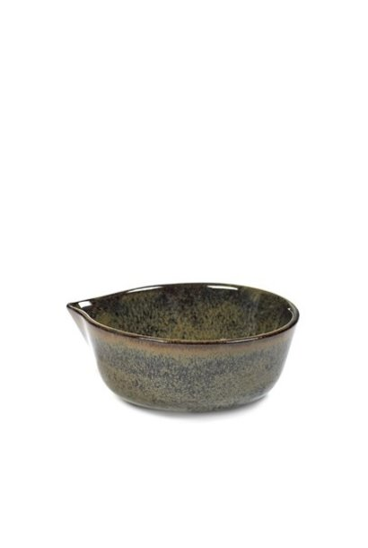 "4"" Ceramic Sauce Bowl - Indi Grey"