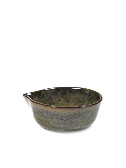 "4"" Ceramic Sauce Bowl - Indi Grey-1"