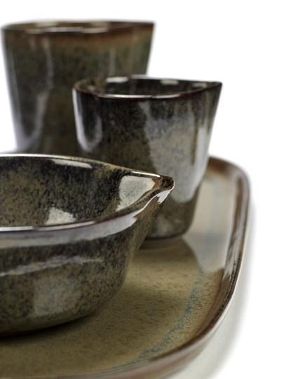"4"" Ceramic Sauce Bowl - Indi Grey-2"