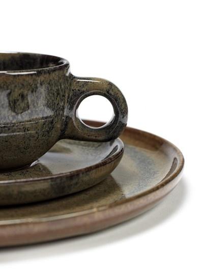 "6"" Ceramic Plate - Indi Grey-2"