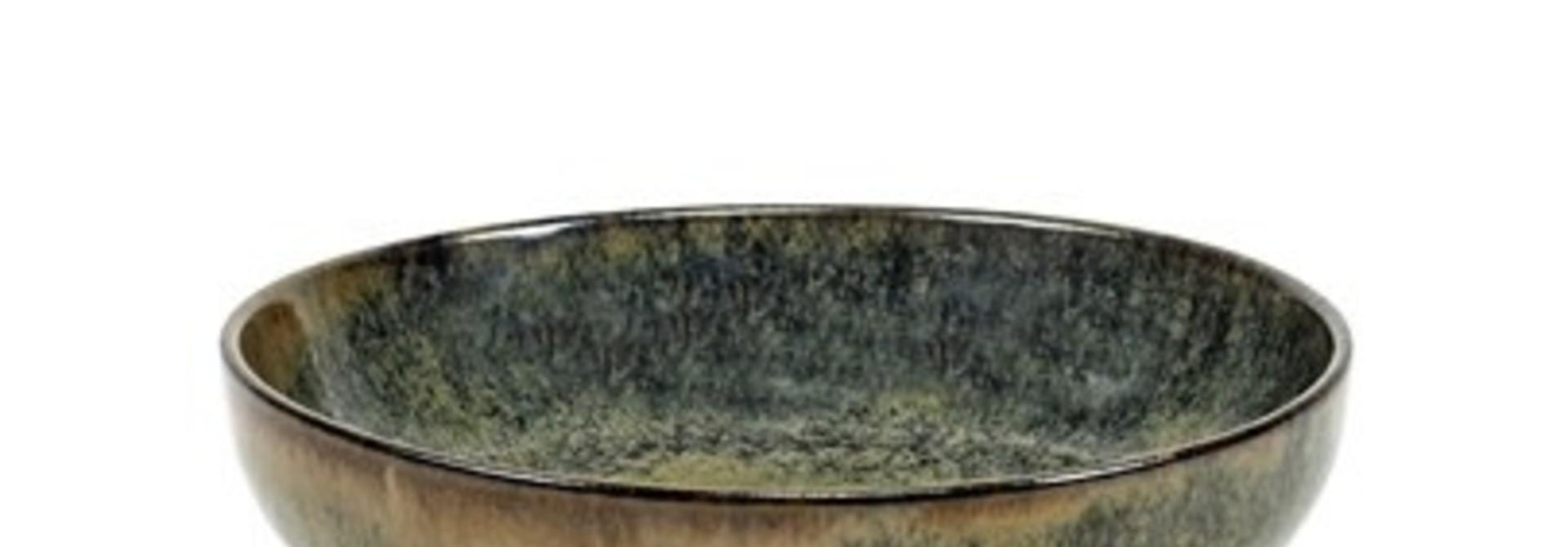 "6"" Ceramic Deep Plate - Indi Grey"