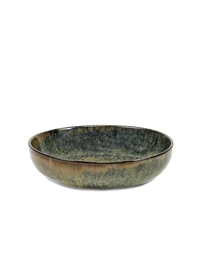 "6"" Ceramic Deep Plate - Indi Grey-1"