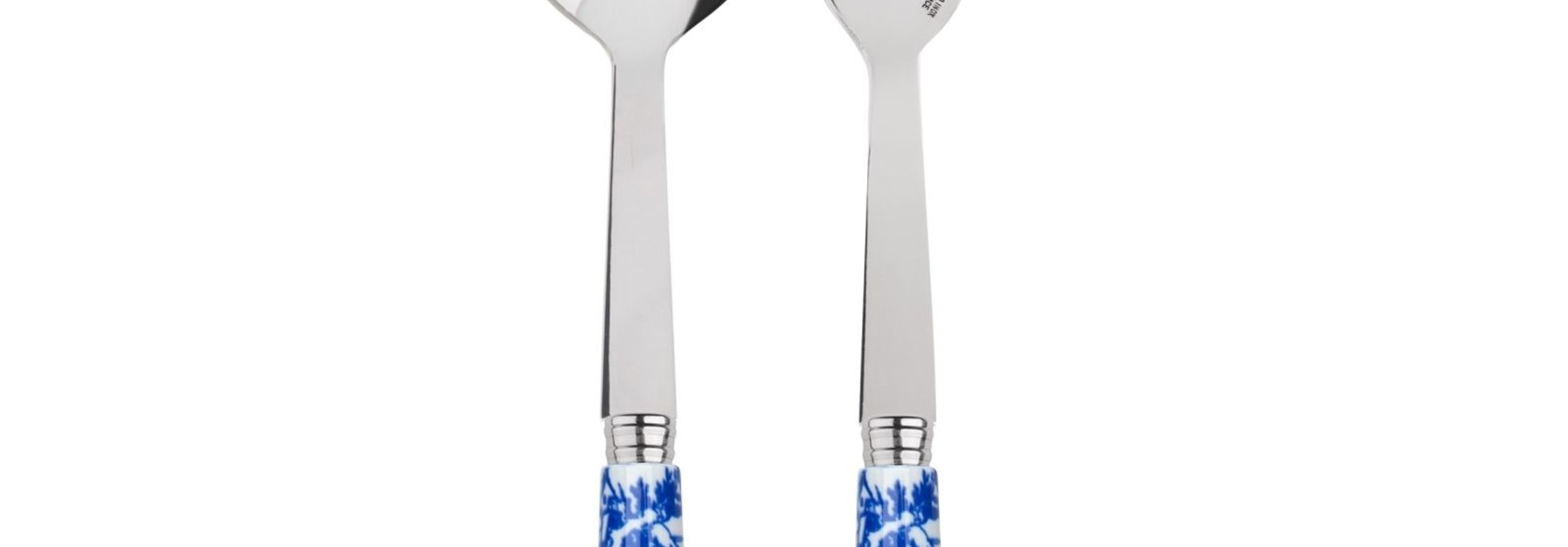 2 Piece Serving Set - Toile Blue