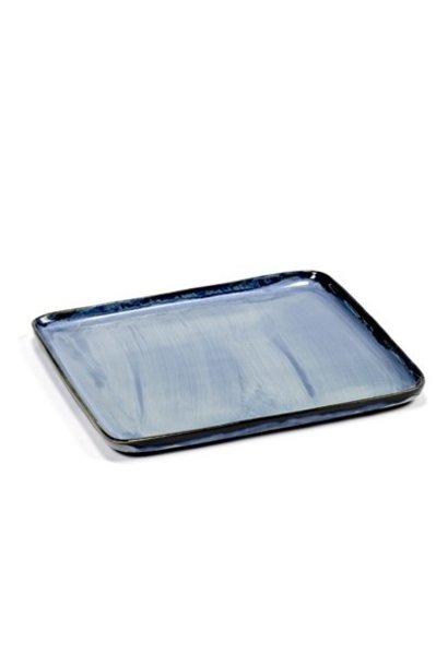 "7"" Ceramic Square Plate - Blue"
