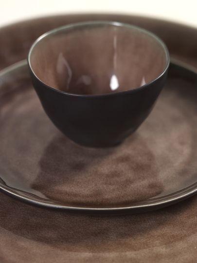 """8"""" Ceramic Oval Bowl - Brown-3"""