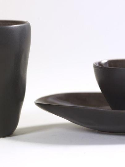 """8"""" Ceramic Oval Bowl - Brown-2"""