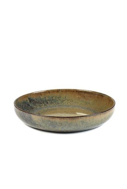 "8"" Ceramic Deep Plate - Indi Grey"