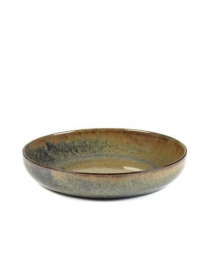"8"" Ceramic Deep Plate - Indi Grey-1"