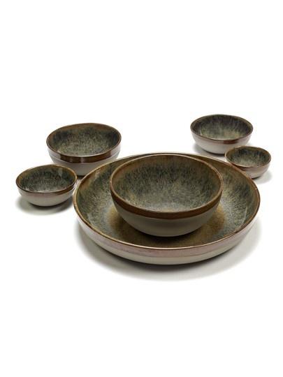 "8"" Ceramic Deep Plate - Indi Grey-2"