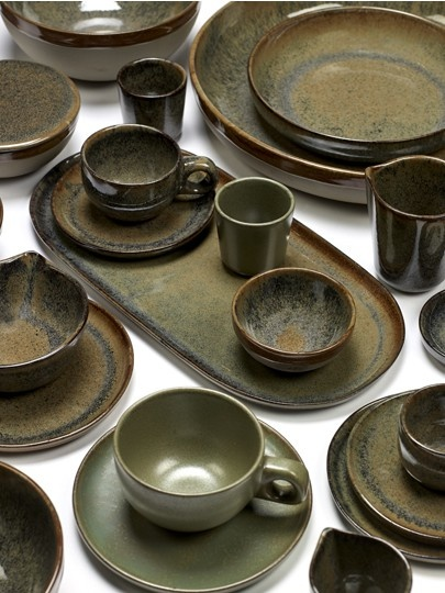 "8"" Ceramic Deep Plate - Indi Grey-3"