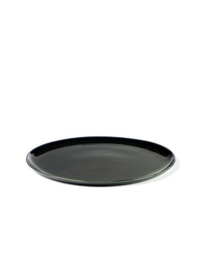 "8.75"" Ceramic Plate - Dark Blue-1"