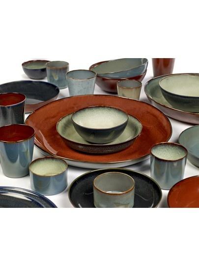 "8.75"" Ceramic Plate - Dark Blue-3"