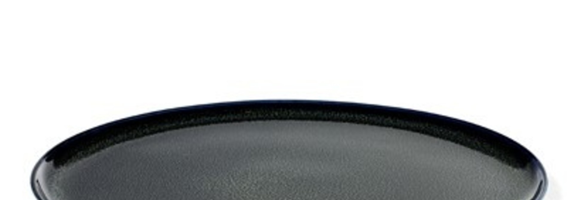 "10"" Ceramic Plate - Dark Blue"