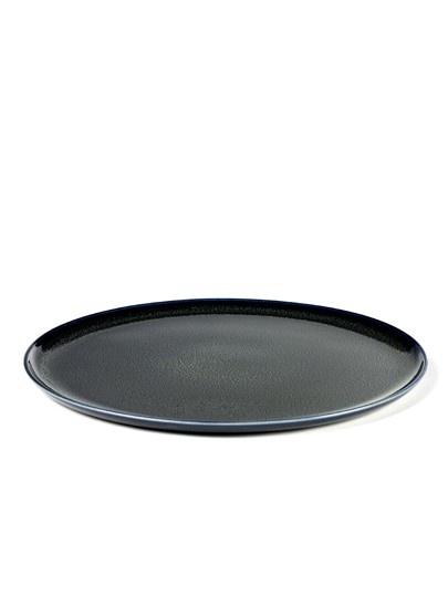 "10"" Ceramic Plate - Dark Blue-1"