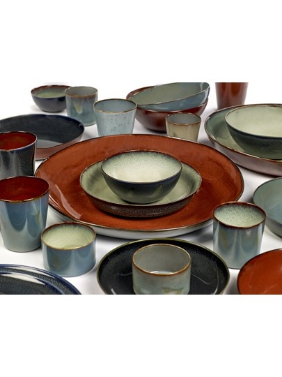 "10"" Ceramic Plate - Dark Blue-2"