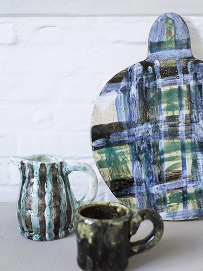 Oui Oui Decorative Jug - Blue/Green-3