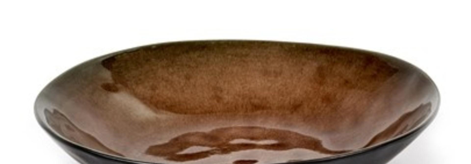 """9"""" Ceramic Salad Plate - Brown"""