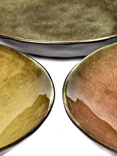 """9"""" Ceramic Salad Plate - Brown-2"""