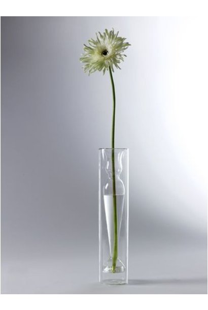 "16"" Slim Deco Glass Vase"