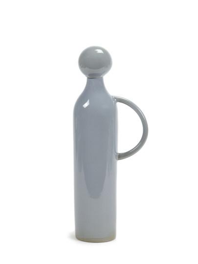 34 oz. Ceramic Jug/Stopper - Smokey Blue-1