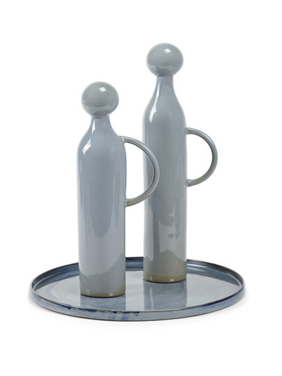40 oz. Ceramic Jug/Stopper - Smokey Blue-3