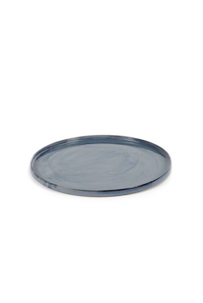 "14"" Ceramic Round Tray - Blue"