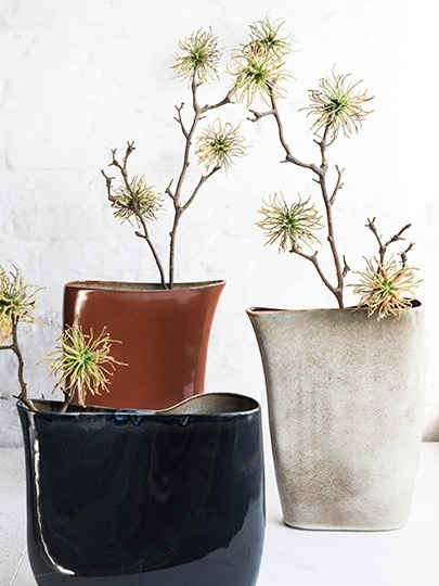 """13"""" Ceramic Vase - Rust-3"""
