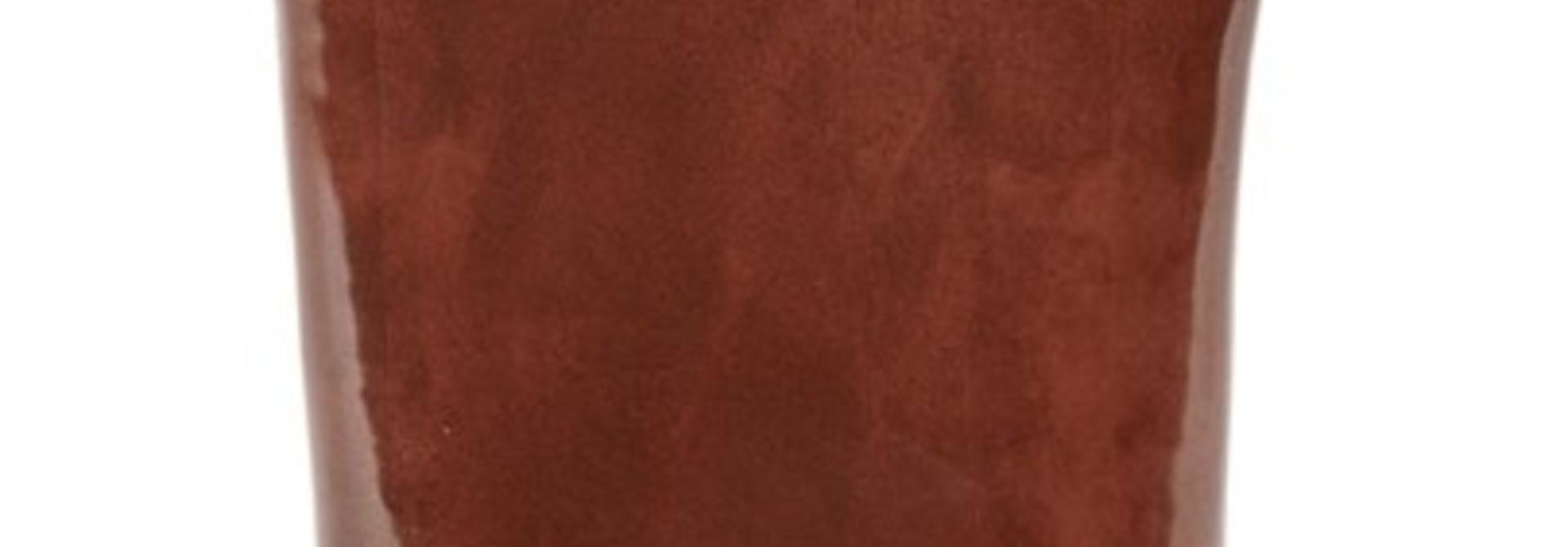 """13"""" Ceramic Vase - Rust"""