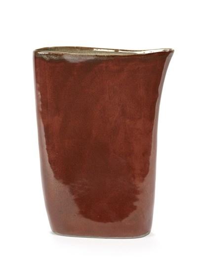 """13"""" Ceramic Vase - Rust-1"""