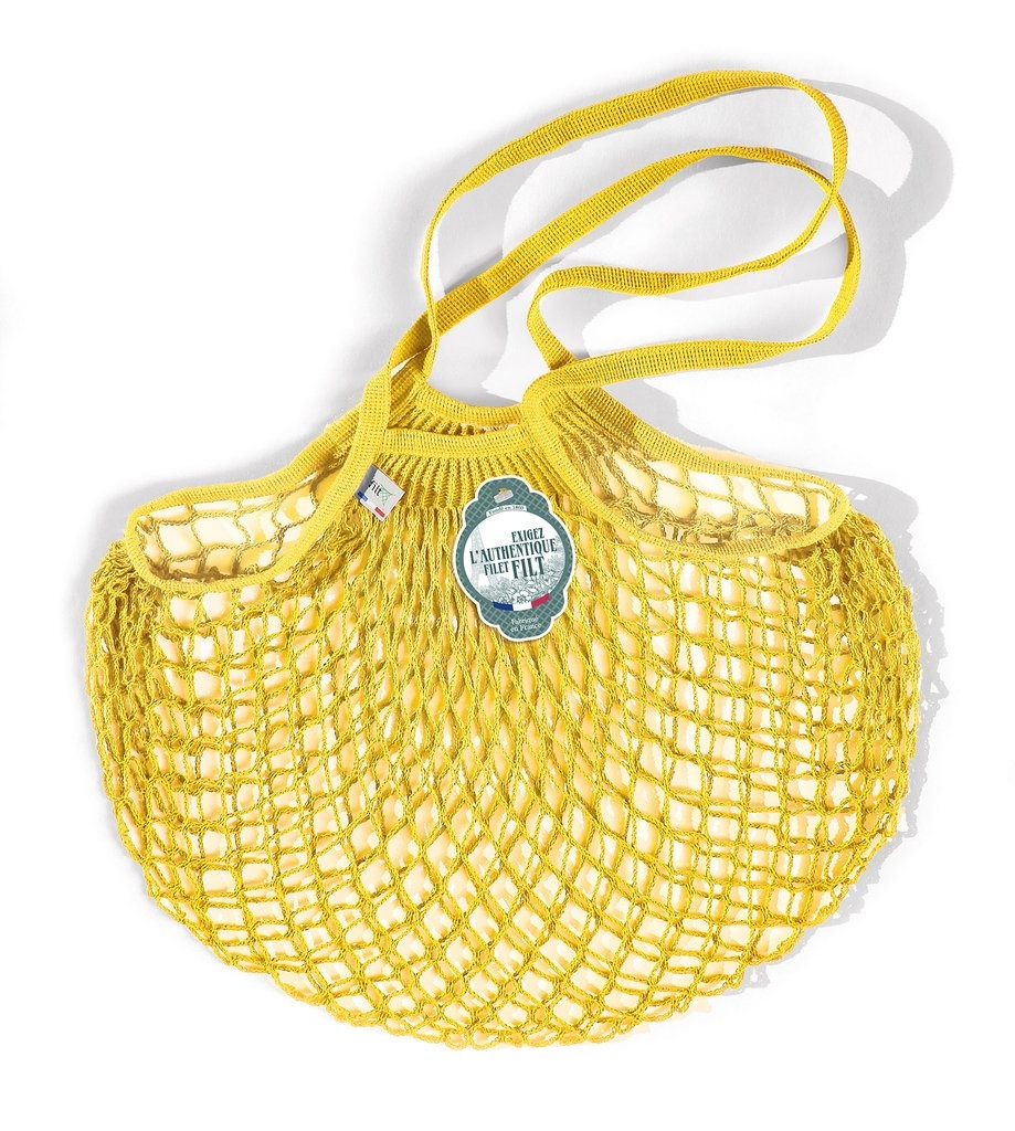 Filt Woven Cotton Bag - Yellow-1