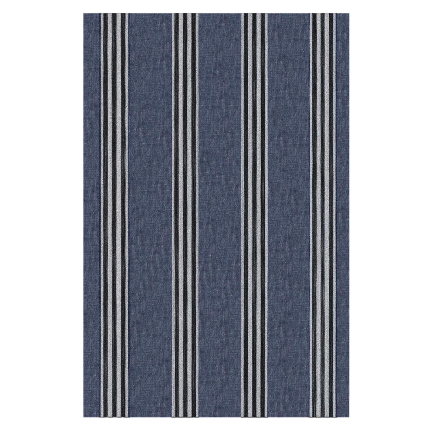 Corte Table Linen Set with 6 Napkins - Indigo-3