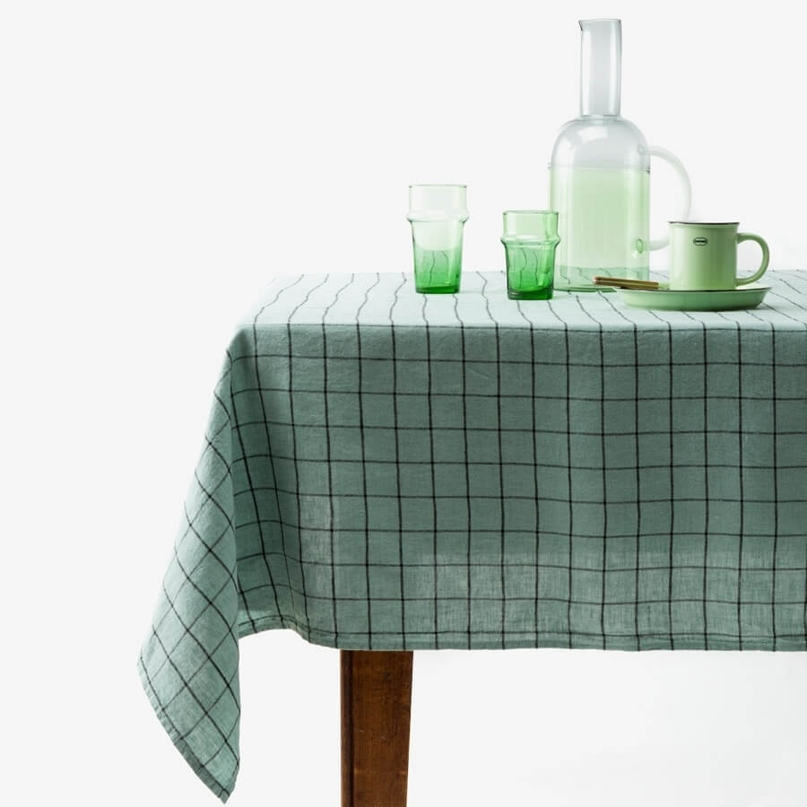 Chieti Tablecloth - Celadon-2