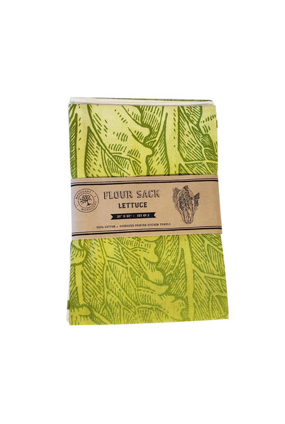 Flour Sack Tea Towels (2) - Lettuce