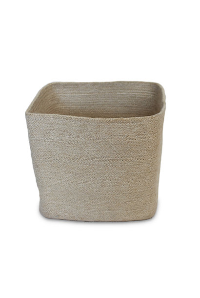 Jute Square Trash Basket