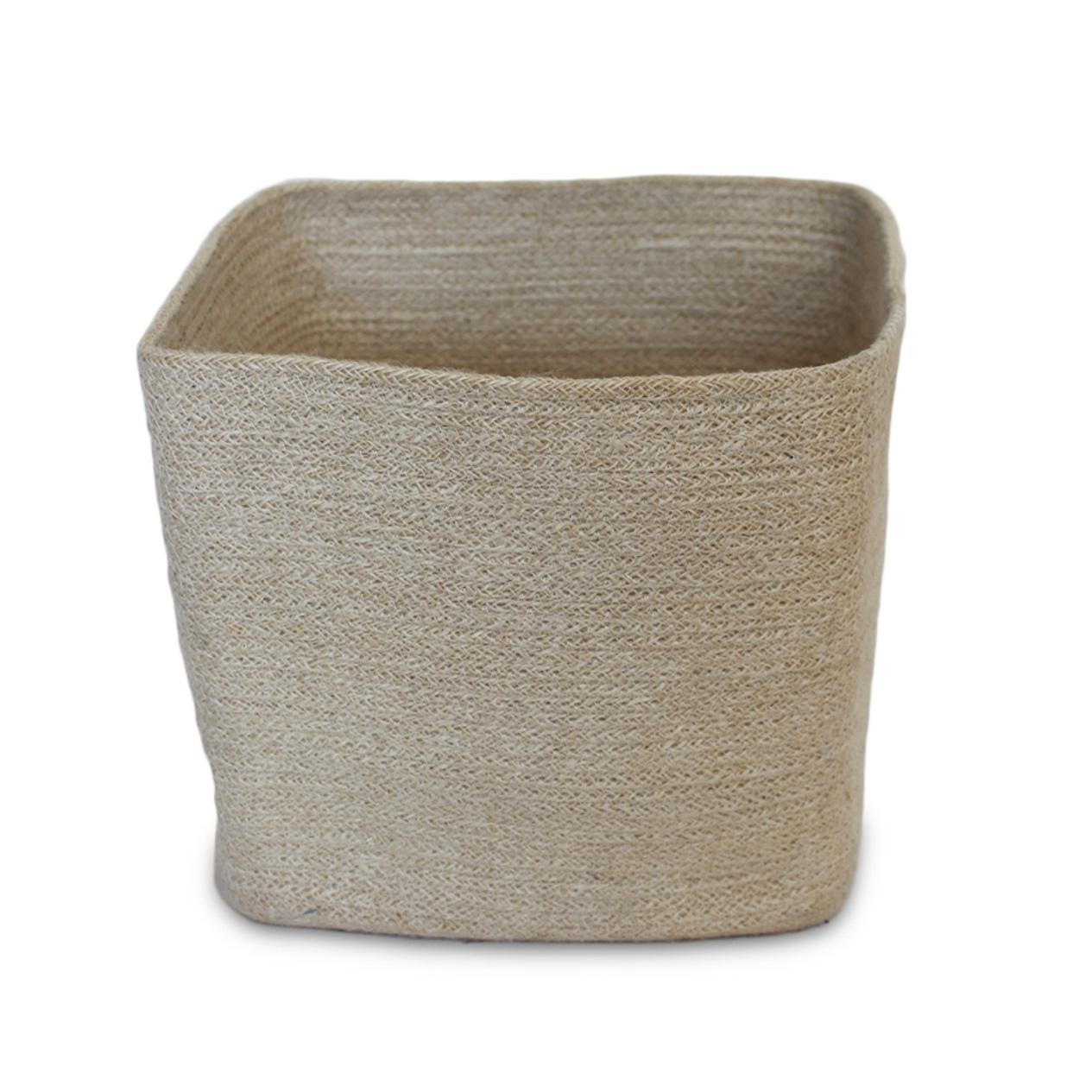 Jute Square Trash Basket-1