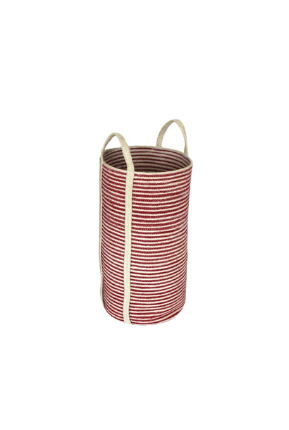 Jute Tall Round Laundry Basket - Medium