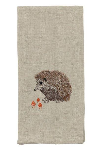 Hedgehog-Mushroom Tea Towel