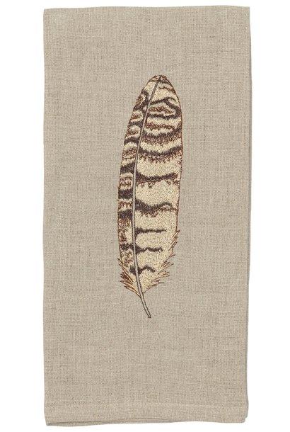 Horn Owl Feather Tea Towel