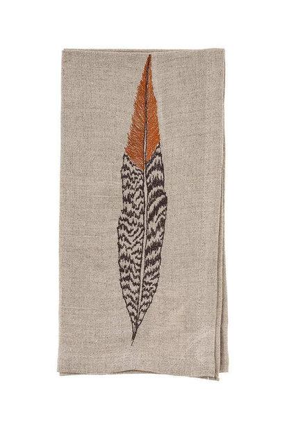 Pheasant Feather Napkin