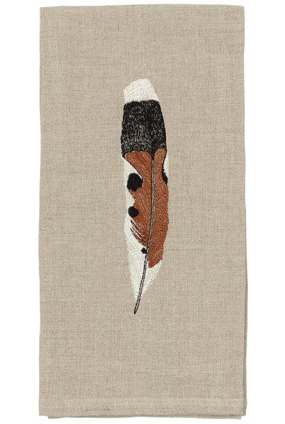 Kestrel Feather Tea Towel