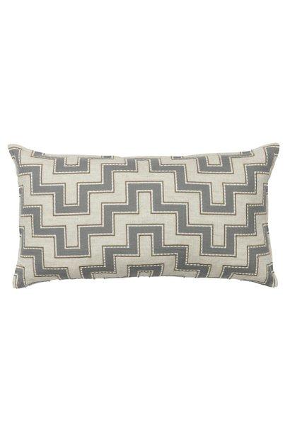 Aqueduct Appliqué Grey Cushion