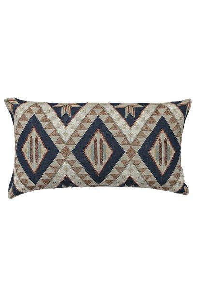 Compass Appliqué Navy Cushion