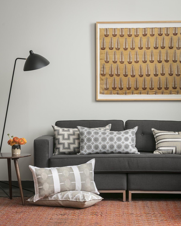 Honeycomb Appliqué Ivory Cushion-3