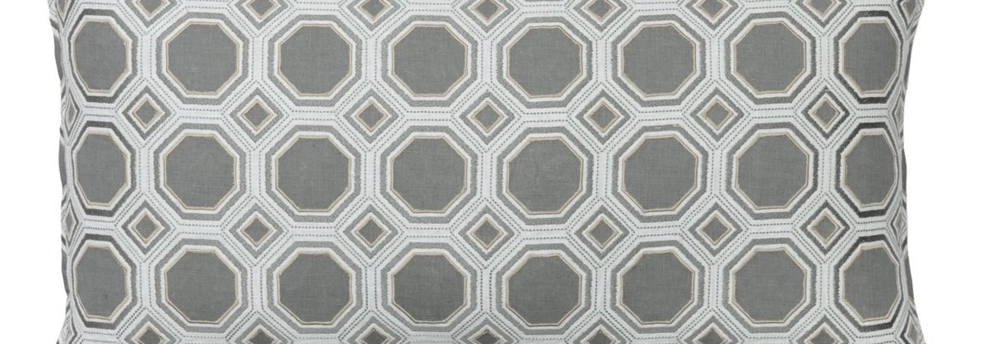 Honeycomb Appliqué Ivory Cushion
